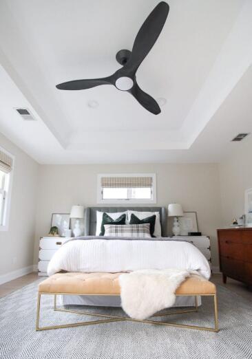 bedroom ceiling fan size