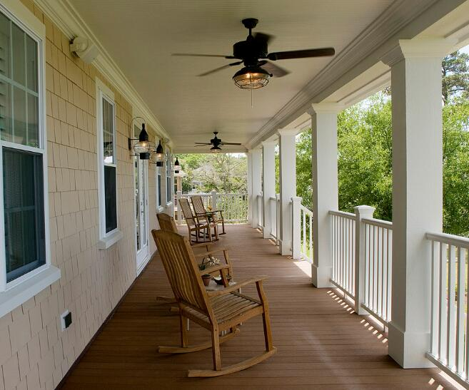 ceiling fan size for outdoor space