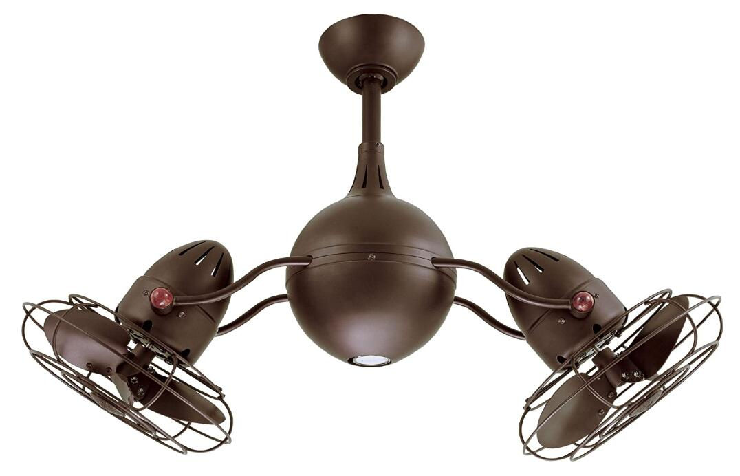 best double ceiling fan with light