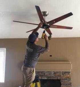 the cost of install a ceiling fan with downrod