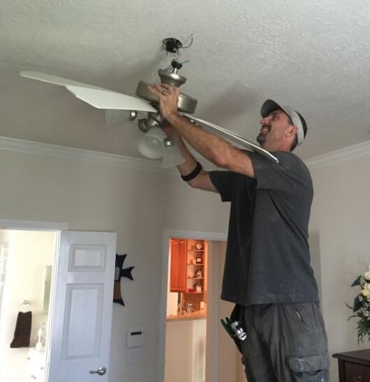 install ceiling fan with no fixture