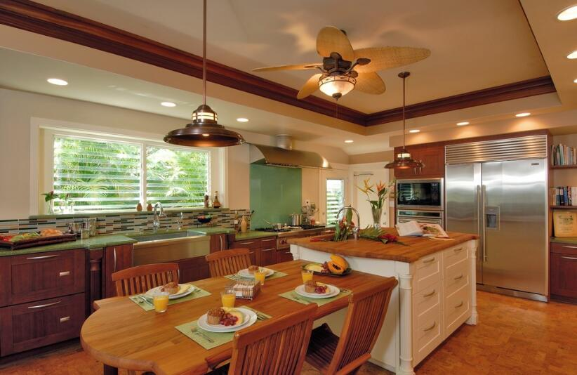 kitchen lighting with ceiling fan
