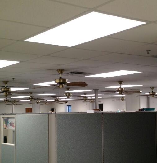 office ceiling fan size