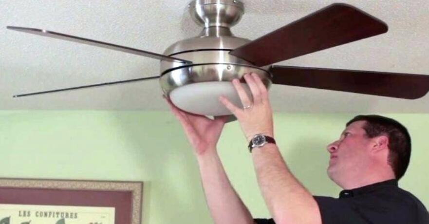 replace ceiling fan light