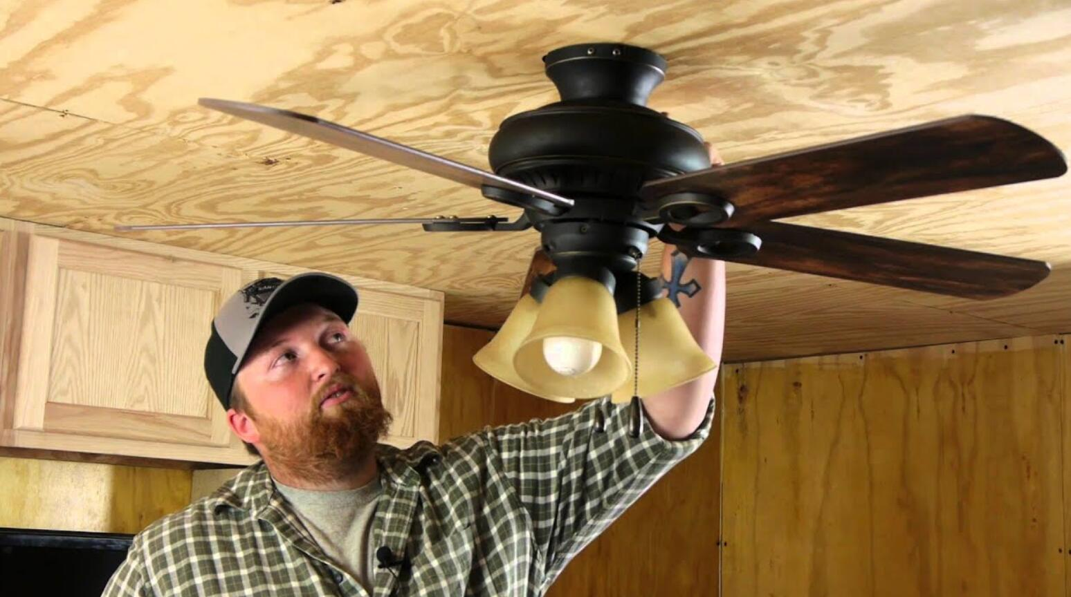 tighten ceiling fan motor cover