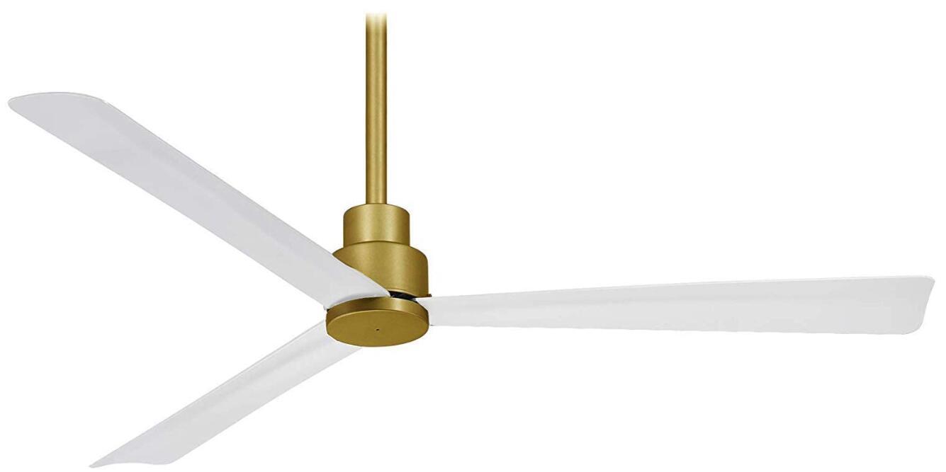 white ceiling fan in living room
