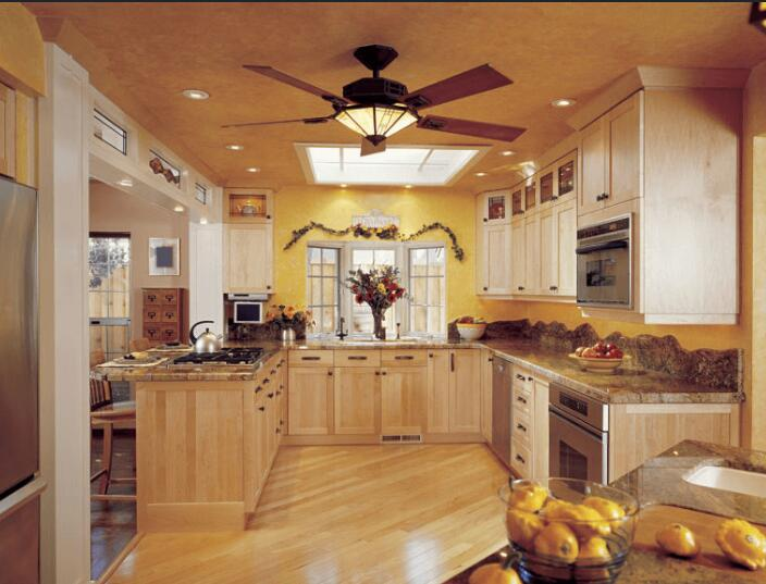 white kitchen ceiling fan with light