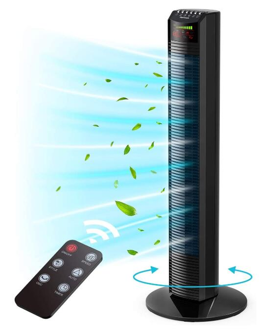 best selling tower fan with remote