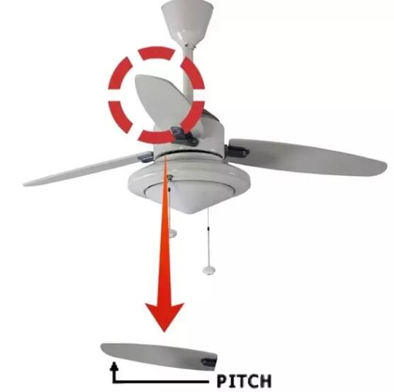 ceiling fan blade pitch
