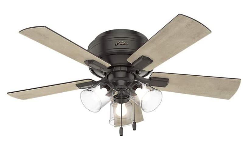 best low profile fan with light