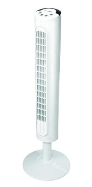 white under 50 tower fan