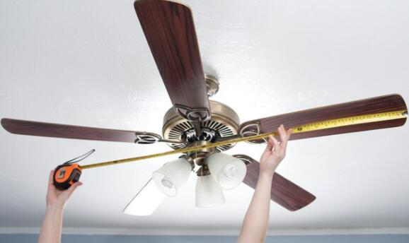 how to size ceiling fan for master room