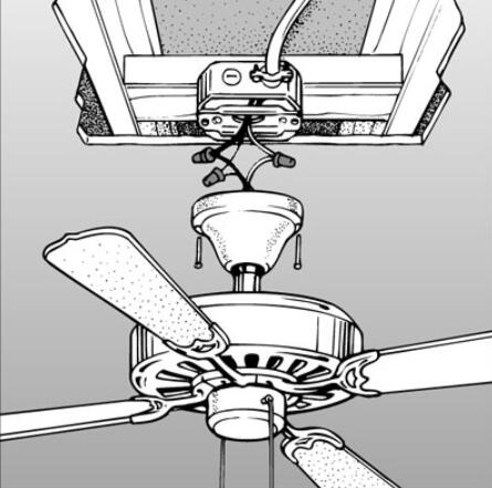easy install ceiling fans