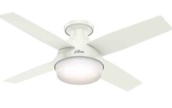 using low profile ceiling fans