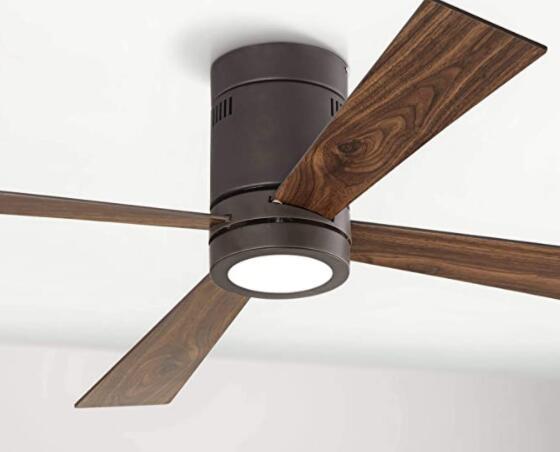 wooden low profile ceiling fan