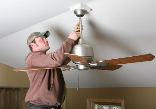 instructions on hanging a ceiling fan