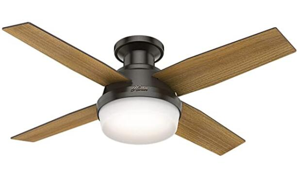 best rated ceiling fans with lights and remote