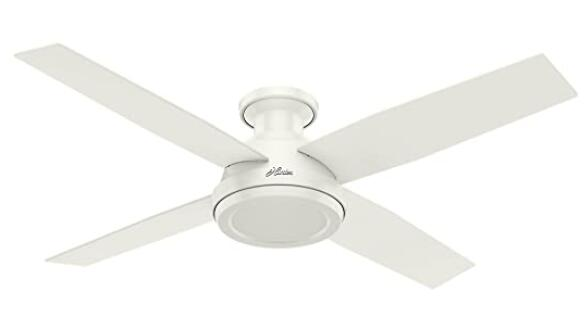 white ceiling fan with four blades
