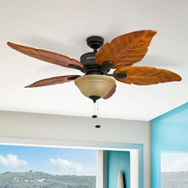 5 blade wooden ceiling fan