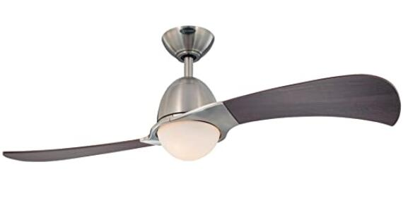 metal and wooden ceiling fan in 2 blade