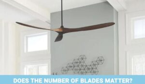 ceiling fan number of blades
